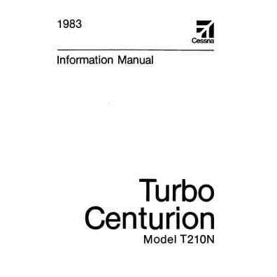 Cessna Turbo 210N Centurion 1983 Pilot's Information