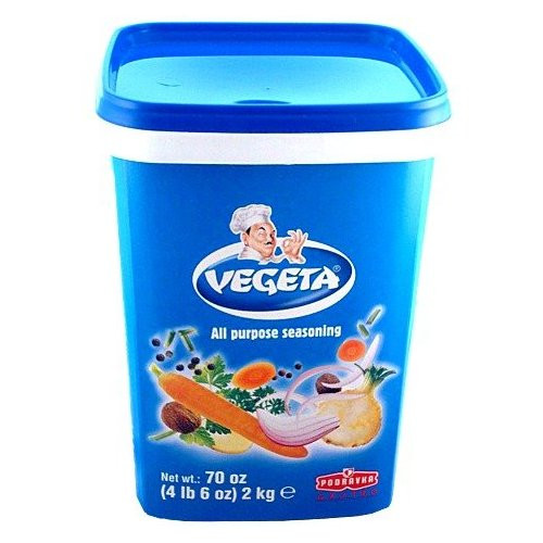 Vegeta, Gourmet Seasoning and Soup Mix, 70oz (2kg) Plastic Tub