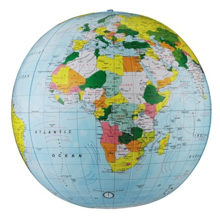 12' Light Blue Political Inflatable Globe (Map)