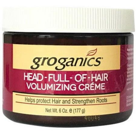 2 Pack - Groganics Head Full of Hair, Volumizing Creme 6 oz