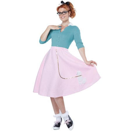 Poodle Skirt Adult Costume - Pink Poodle Skirt Halloween Costume