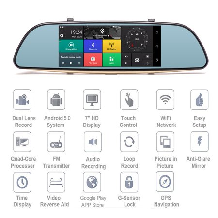 Podofo 3G Wifi Car DVR 7