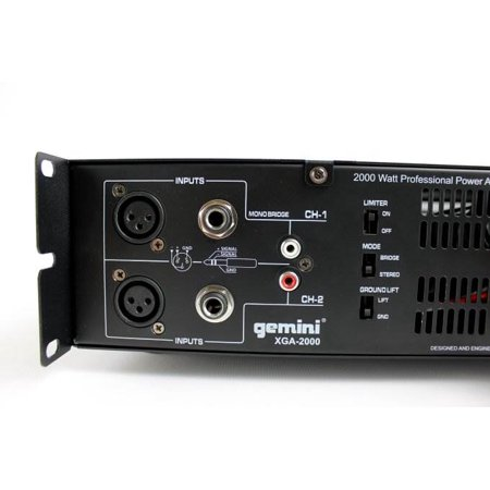 GCI TECHNOLOGIES XGA2000 2000 Watts Professional Power Amplifier - image 9 of 10
