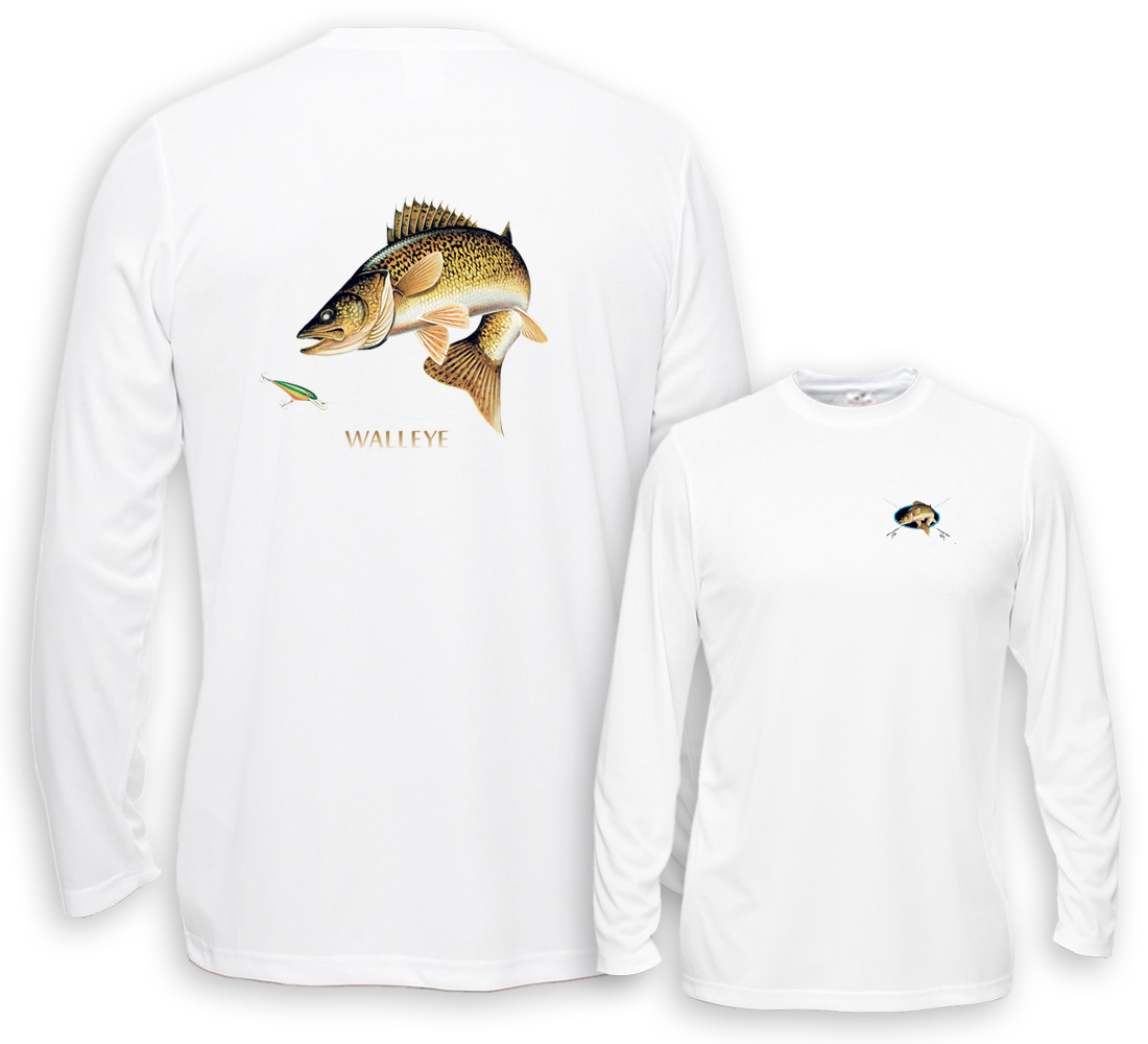 Uv Performance Long Sleeve Walleye Going For Lure Profile Fishing
