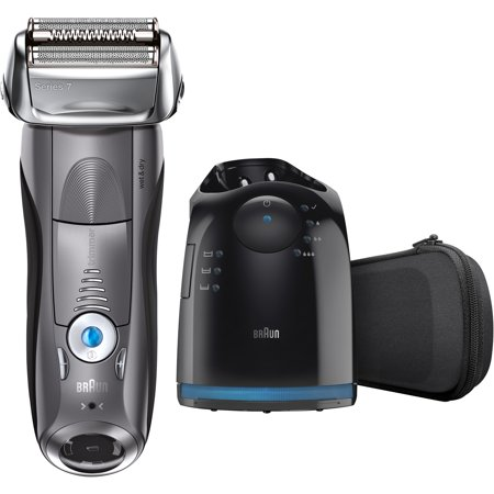Braun Series 7 7865cc Men's Electric Foil Shaver, Wet and Dry Razor with Clean & Charge Station