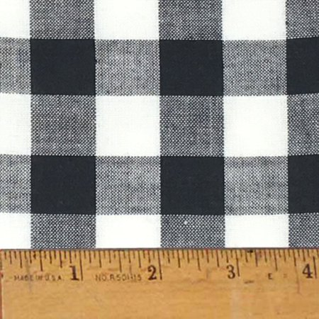 White Buffalo Check Plaid Homespun Cotton Fabric Sold by the Yard - JCS Fabric