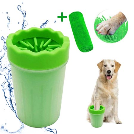 Image of Peroptimist Dog Paw Cleaner, Portable Dog Cleaner Puppy Paw Cleaning Brush Pet Paw Cleaner Brush Cup Dog Foot Washer with Comfortable Silicone Bristles for Dogs and Cats