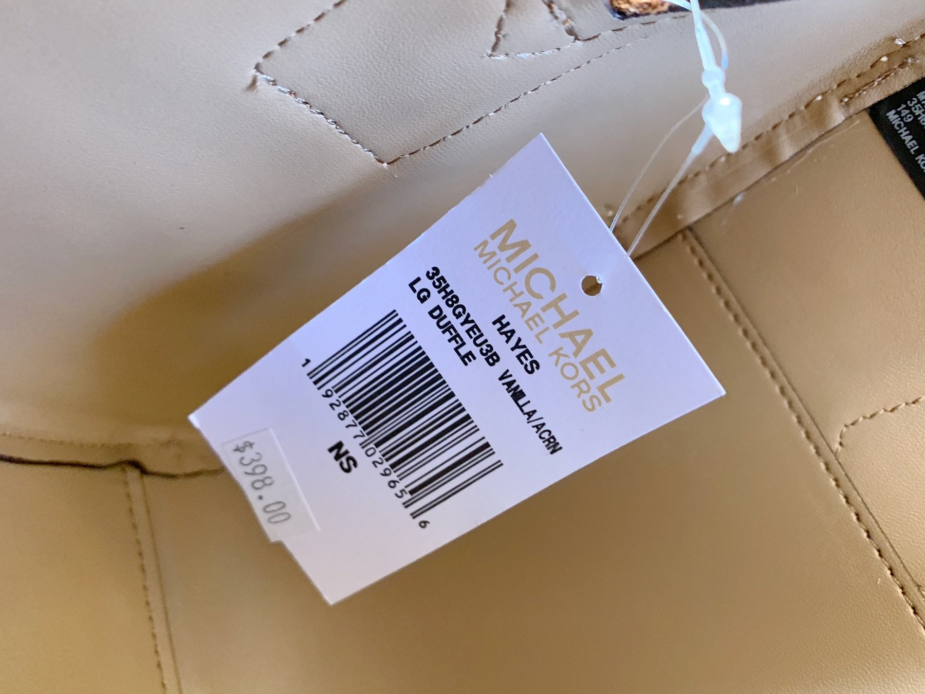 b74b81d7aaa7 Michael Kors Hayes Large Duffle Satchel Bag Vanilla MK Signature -  Walmart.com