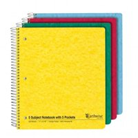 TOPS 25-466R 5 Subject 5 Pocket Notebook, Pack Of 20