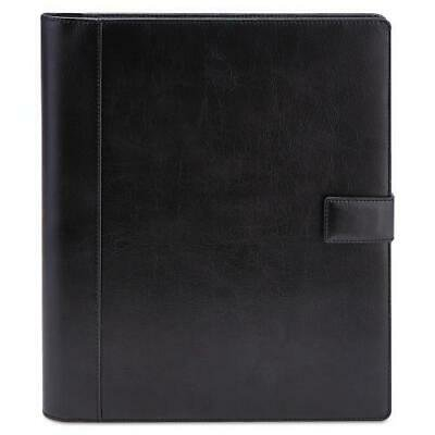 Textured Notepad Holder, 8 1/2 x 11, Leather-Like, Black Notepad Paper Holder