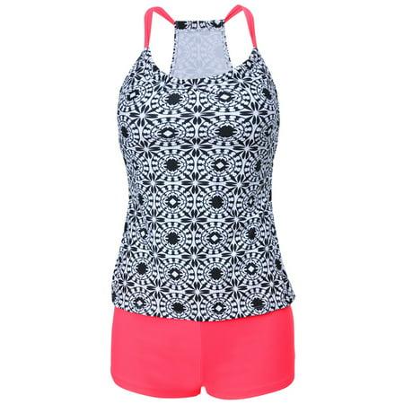 6a4283c914f Unbrand - Plus Size Women s Floral Tankini Swimsuit Push Up Padded Bikini  Set Swimwear Bathing Suit