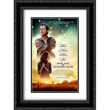 Same Kind Of Different As Me 18X24 Double Matted Black Ornate Framed Movie Poster Art Print