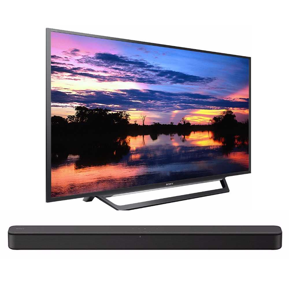 Sony W600D 32-inch Built-In Wi-Fi HD TV + Sony HT-S100F 2-Channel Soundbar