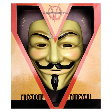 Morris Costumes V For Vendetta Deluxe Plastic Great Face Mask One Size, Style - V For Vendetta Mask Costume