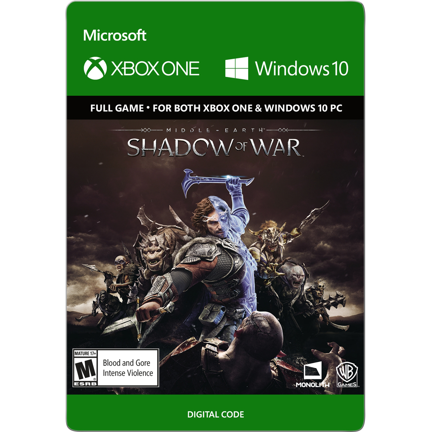 Middle-Earth: Shadow of War, Warner Brothers, Xbox One, [Digital Download], 799366473114