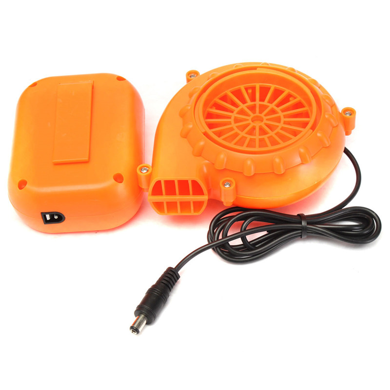 Orange Mini Fan Blower for Mascot Head Inflatable Costume 6V 4.8W Powered by Dry Battery