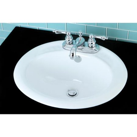 Surface Mount Bathroom Sink and Classical Chrome Faucet Set - Walmart ...