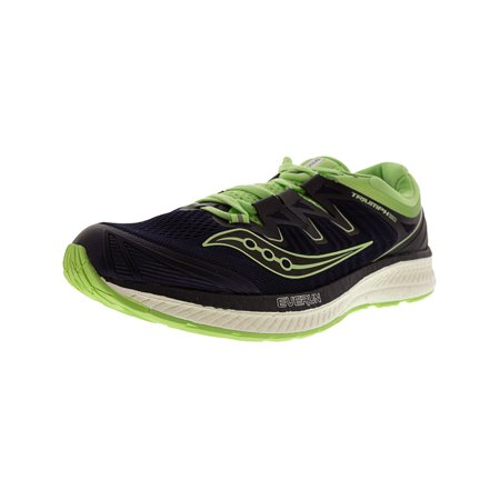 Saucony Women's Triumph Iso 4 Navy / Mint Ankle-High Mesh Running Shoe -
