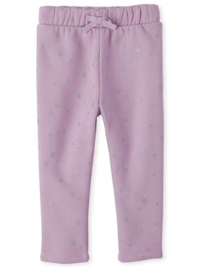 The Children's Place All Around Glitter Print Joggers (Baby Girls & Toddler Girls)
