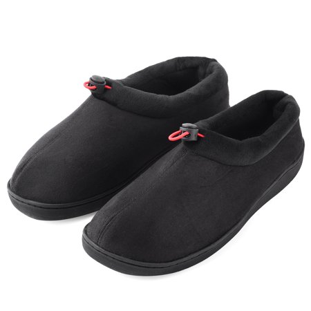 Men's Slippers House Shoes Breathable Comfy Memory Foam Moccasin Slip on Clogs Micro Suede Indoor Outdoor Footwear w/Anti-Skid Sole Bark Suede Footwear