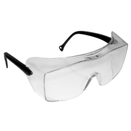 Series Safety Glasses Clear Lens (3M OX 2000 Series Safety Glasses With Black Frame, Clear Polycarbonate Anti-Fog Lens And Secure Grip Temple )