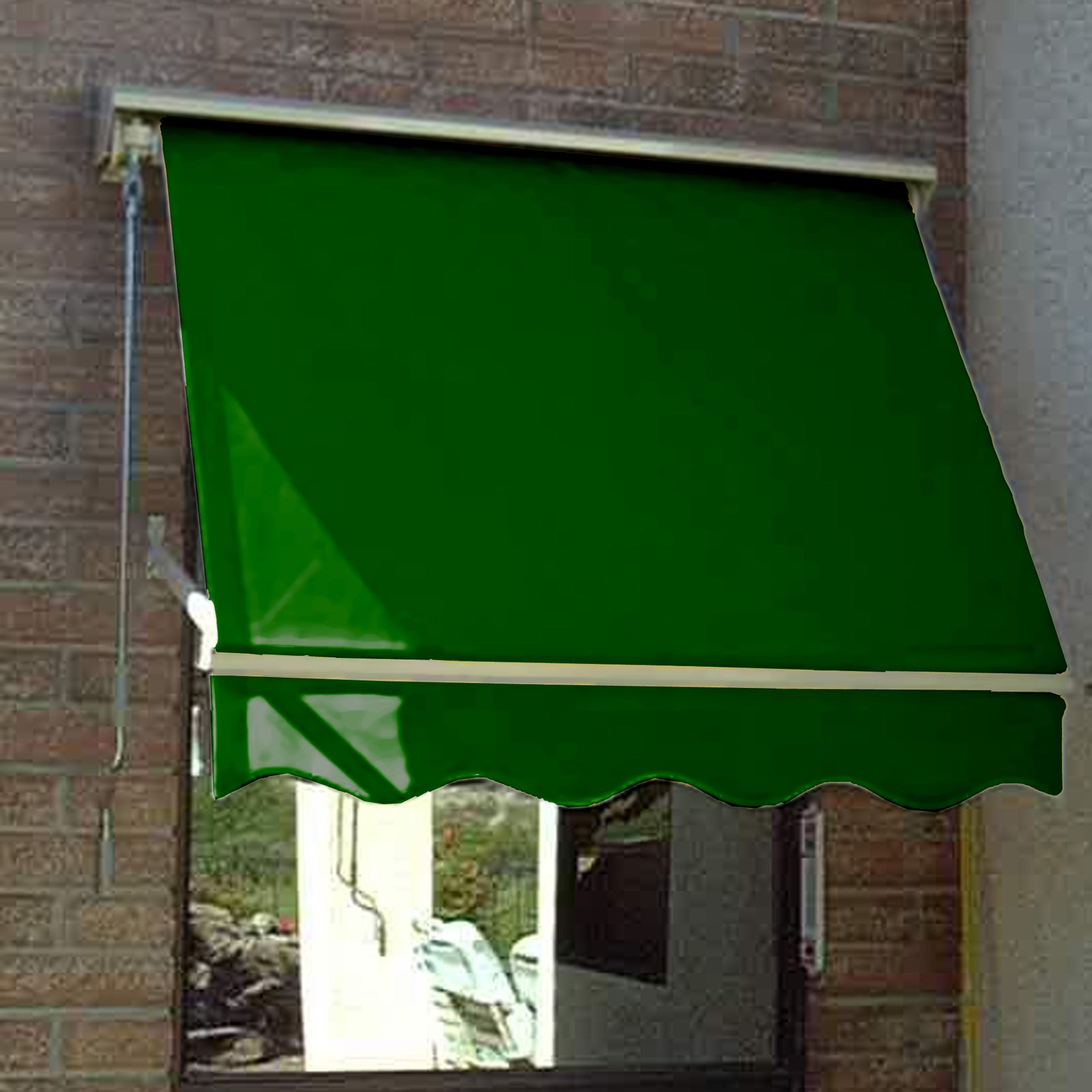 "5 ft. NEVADA® Retractable Slope Awning  (64.5""Wx31""Hx24""D)  Burgundy"