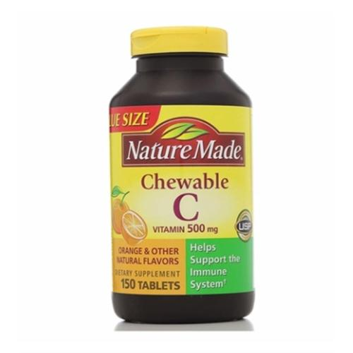 Nature Made Vitamin C 500 mg Chewable Tablets 150 ea (Pack of 6)