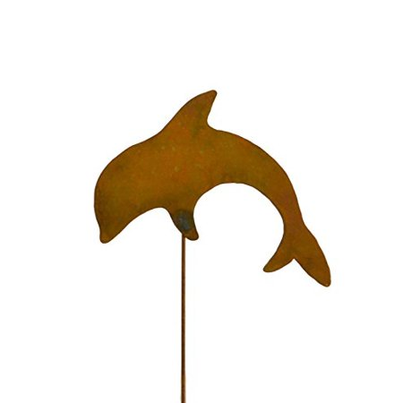 Dolphin Decorative Metal Garden Stake Lawn Patio Decor Yard Art