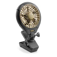 Treva 5 inch Battery Operated Clip Fan with Multi-directional Rotating Head