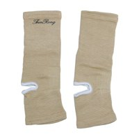 abfa899ade Product Image Unisex Sports Stretchy Ankle Brace Compression Support Sleeve  Light Brown 2pcs