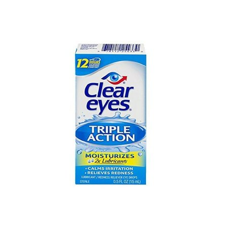 Clear Eyes Lubricant Redness Reliever Eye Drops, 0.5 Oz (15 Ml)