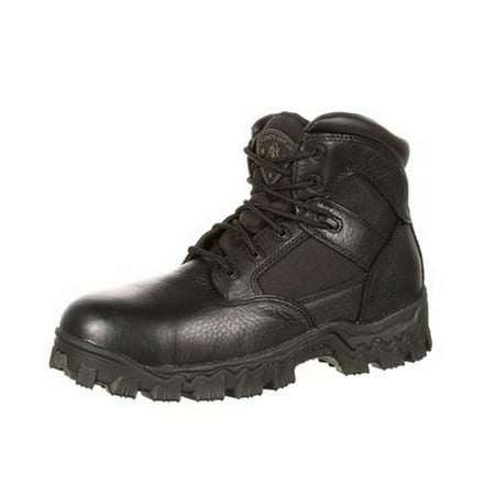 (Rocky Work Boots Mens Alphaforce CT Waterproof Thick Heel Black R6004)