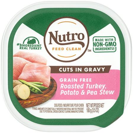 NUTRO Grain Free Wet Dog Food Cuts in Gravy Roasted Turkey, Potato & Pea Stew, 3.5 oz.