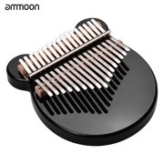 ammoon 17-Key Thumb Piano Black Acrylic Kalimba Mbira Musical Instrument with Carrying Case Tone Stickers Tuning Hammer Finger Protector Padding Wipe Cloth