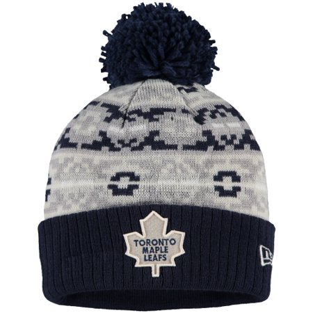 sneakers for cheap 1b2a9 e824a Toronto Maple Leafs New Era Retro Chill Cuffed Knit Hat With Pom - Blue -  OSFA - Walmart.com