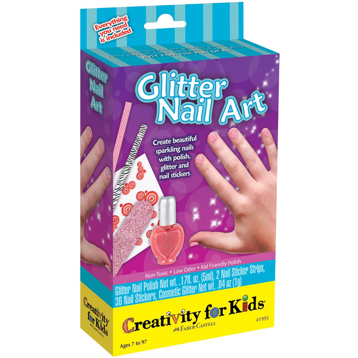 Glitter Nail Art Kit-