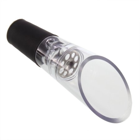 Acrylic Stainless Wine Aerator Pour Spout Bottle Stopper Decanter Aerating - image 1 of 8