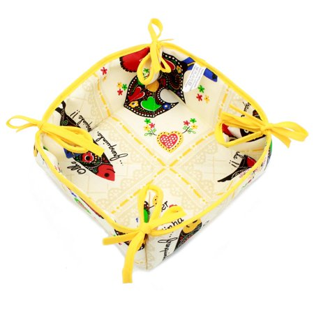 100% Cotton Bread Basket With Traditional Portuguese Sayings - Various