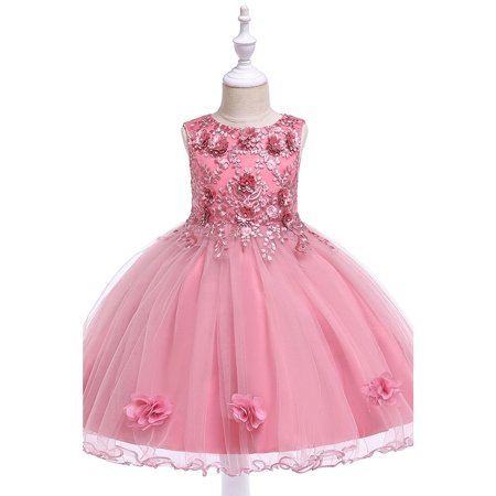 Kids Girls Flower Pettiskirt Ball Gown Fancy Dress](Christmas Pettiskirt)