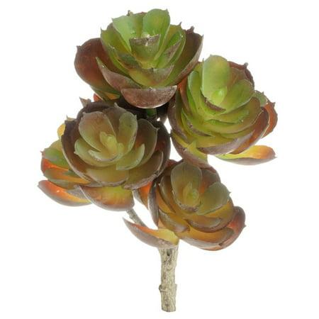 Mini Amber Fake Succulent Flower Artificial Plant Office Desk Decor - Artificial Succulent