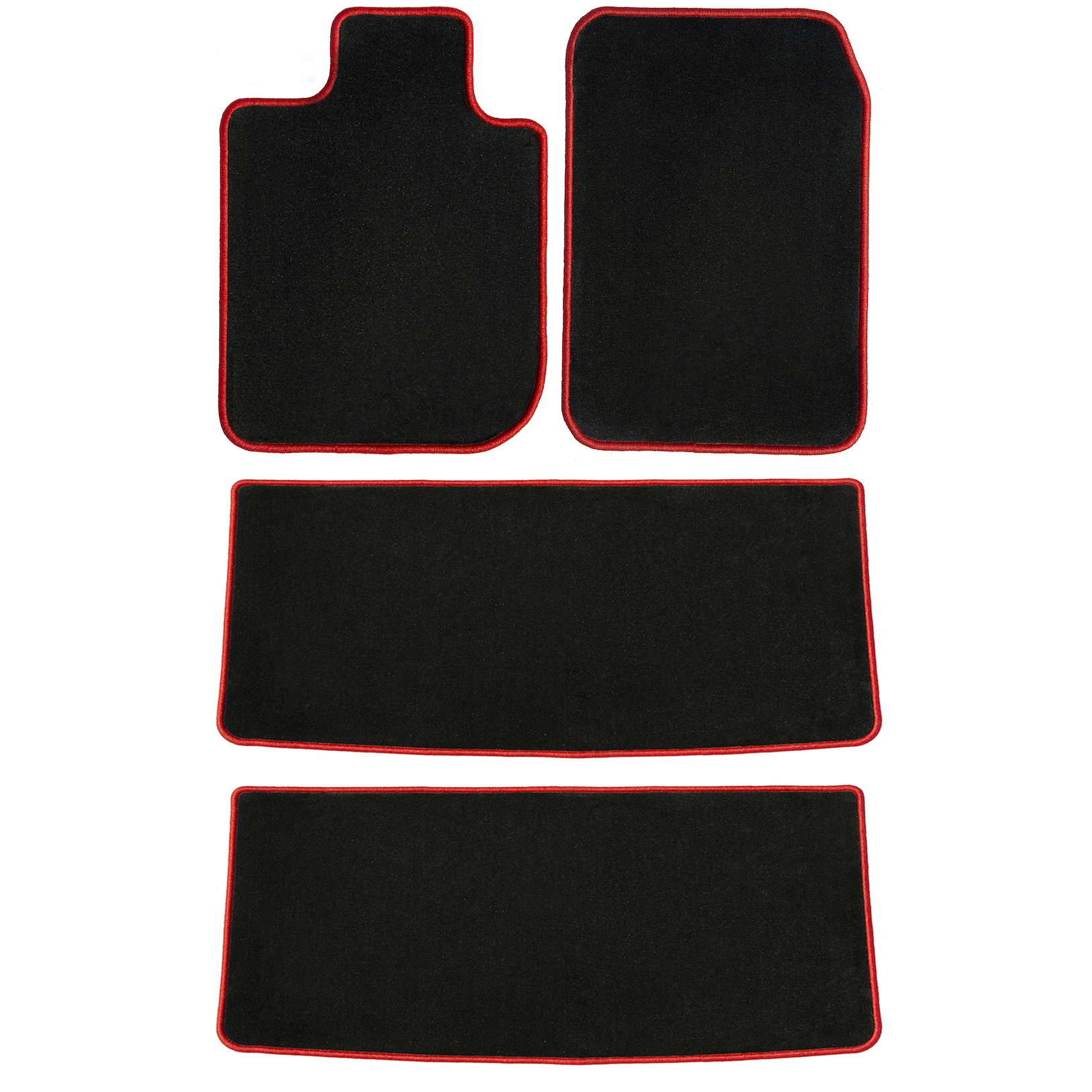 2015 2019 Toyota Highlander Black with Red Edging Driver 4 Piece Floor Passenger 2016 2017 GGBAILEY D50950-LSA-BLK/_BR Custom Fit Car Mats for 2014 2018 2nd /& 3rd Row