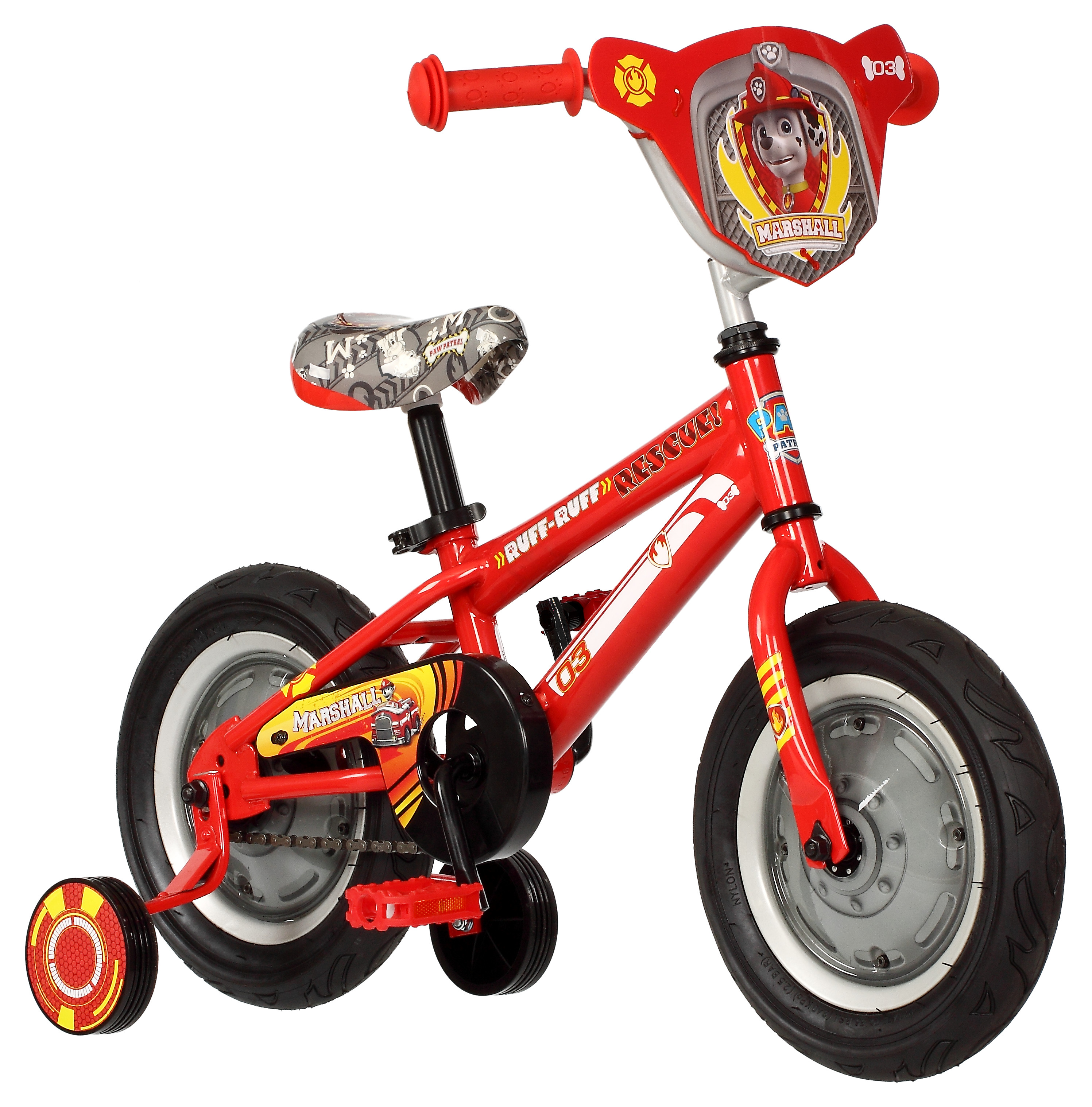 "12"" Paw Patrol Bike Featuring Marshall, Red"