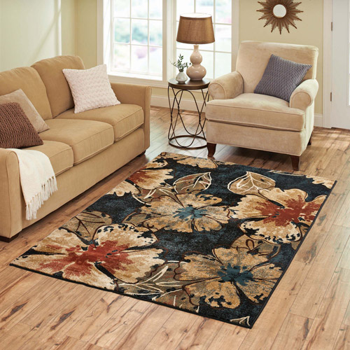 Better Homes and Gardens Indigo Floral Rug Walmartcom