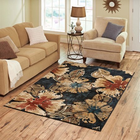 Better Homes And Gardens Indigo Floral Rug Walmart Com