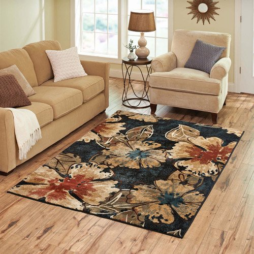 Better homes and gardens indigo floral rug for Better homes and gardens customer service