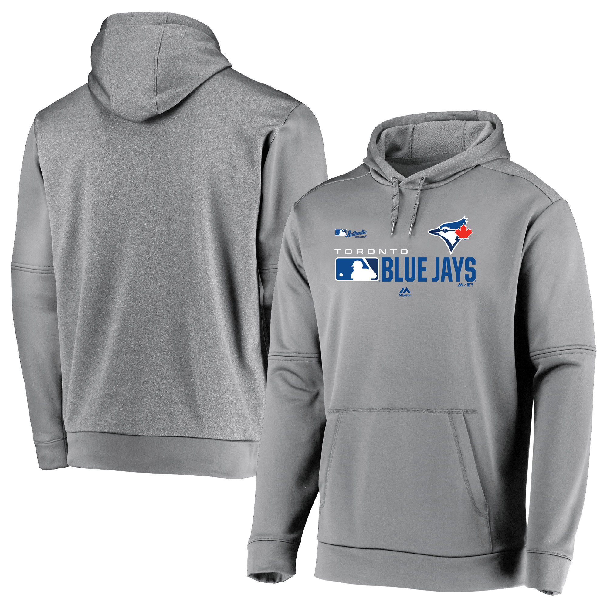 Toronto Blue Jays Majestic Authentic Collection Team Distinction Pullover Hoodie - Platinum