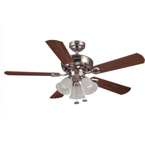 "44"" honeywell valiant ceiling fan, brushed nickel - walmart"