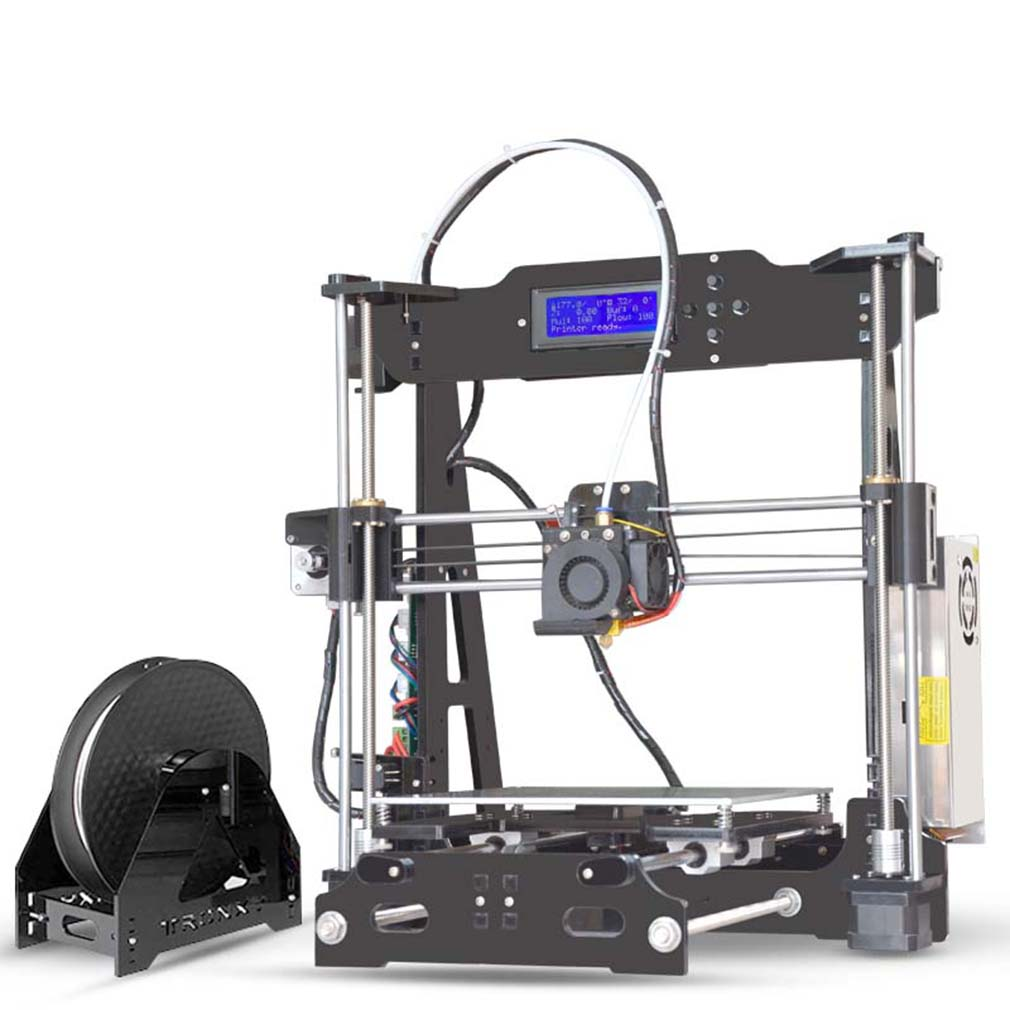 P802E 3D Professional 3D Printer LCD 2004A Display with Assembly, Black
