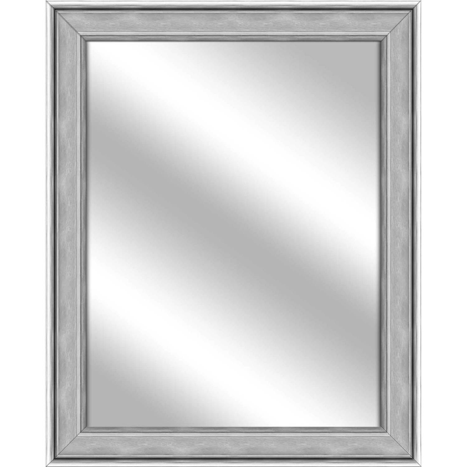 Vanity Mirror, Stainless Silver, 26.75x32.75 by PTM Images