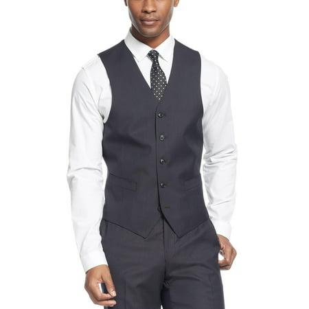 SEAN JOHN Black Diamond Texture Vest 46 Regular Classic Fit - Suit Separates
